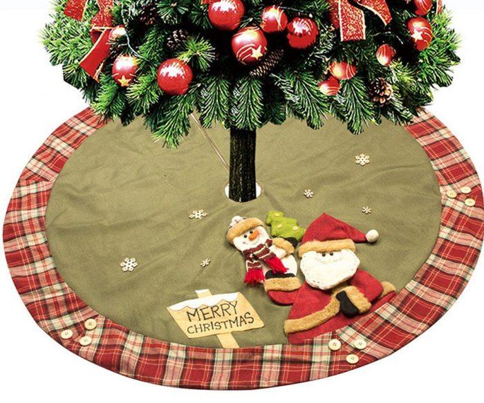Santa and Friends Dancing Christmas Tree Skirt