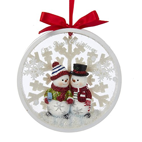 Snowman Couple Ornament