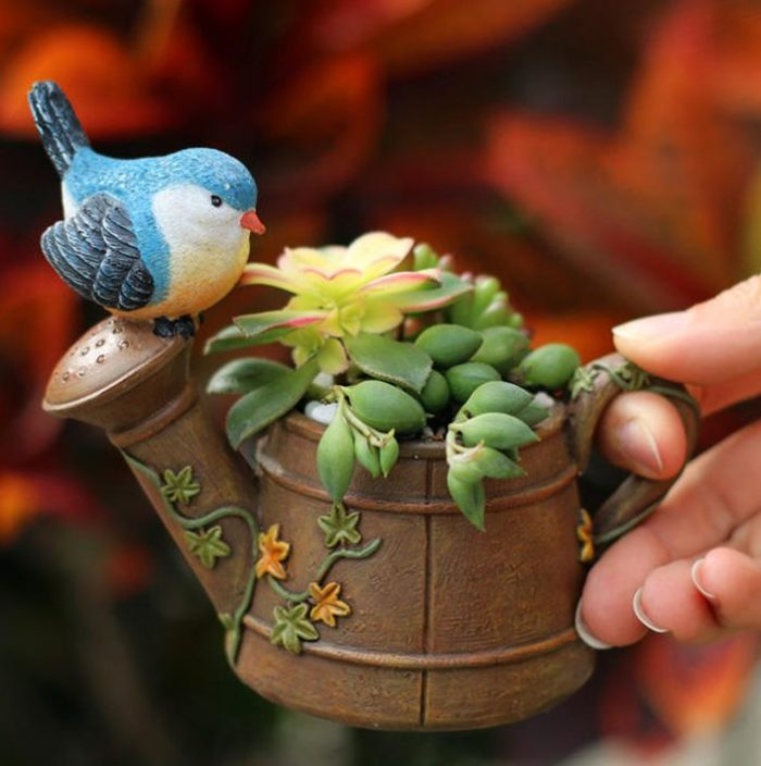 Sprinkler With Bird Design Planter