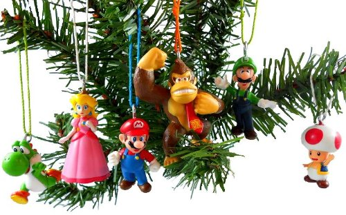 Super Mario Christmas Ornaments