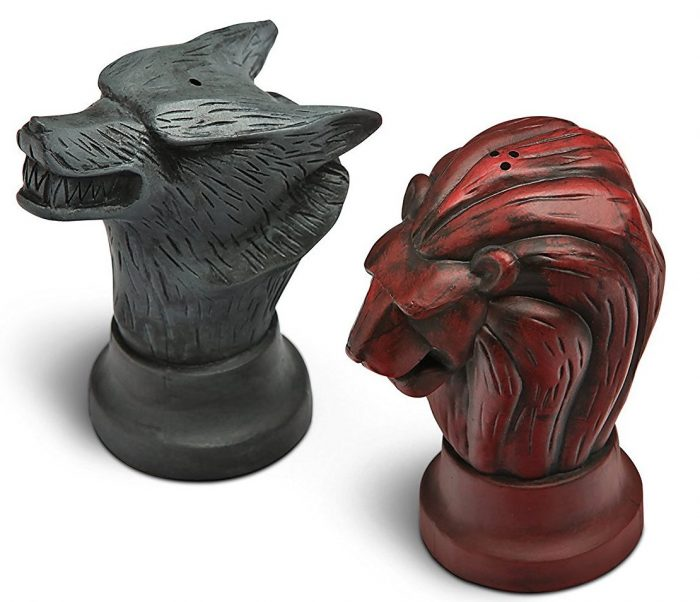 Thrones Stark Salt and Pepper Shakers