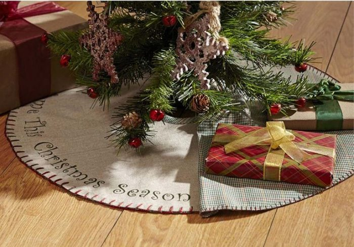 Tidings Christmas Tree Skirt