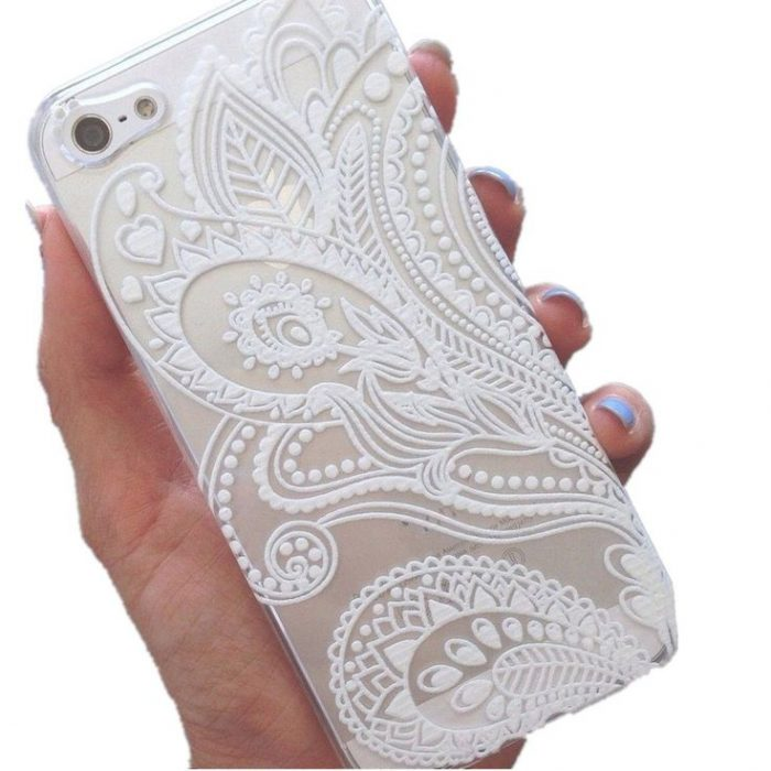 White Paisley Flower Iphone Case Cover