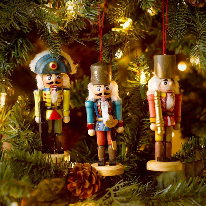 Wooden Soldier Christmas Ornaments