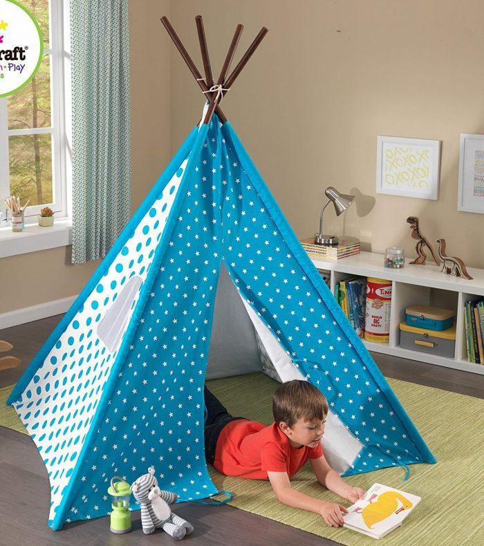 Blue Starry Skies Kids Teepee Tent