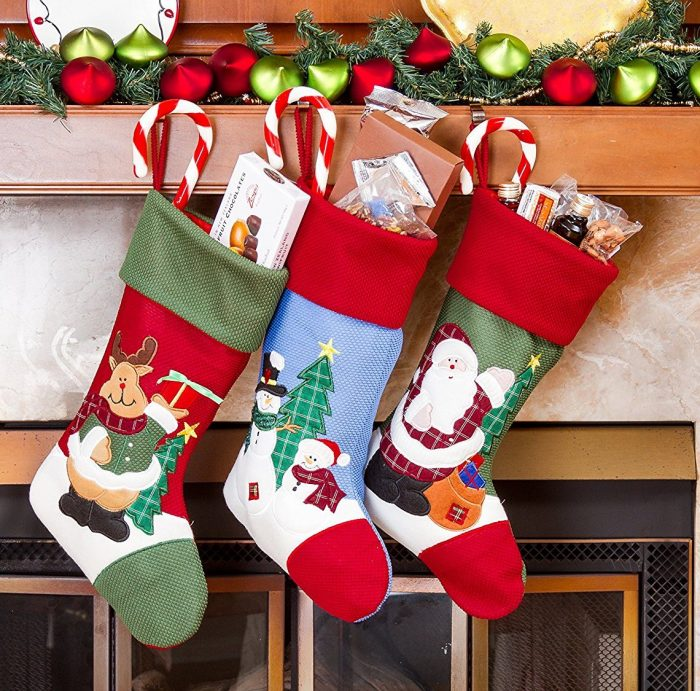 Cheerful Santa Christmas Stockings