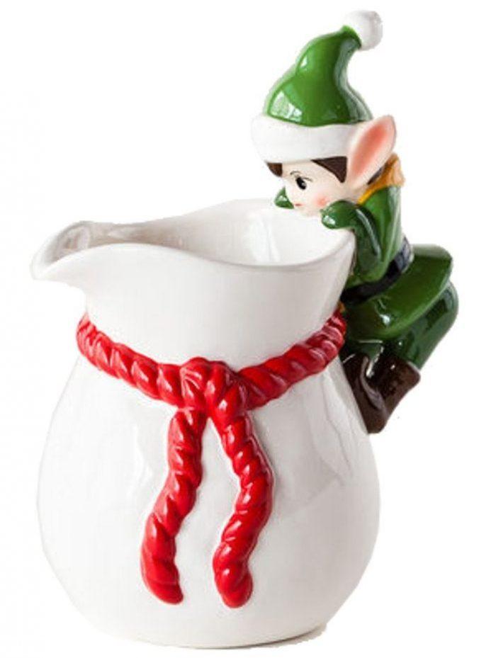 Christmas Ceramic Pitcher