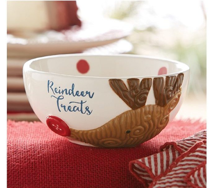 Classic Reindeer Treats Bowl