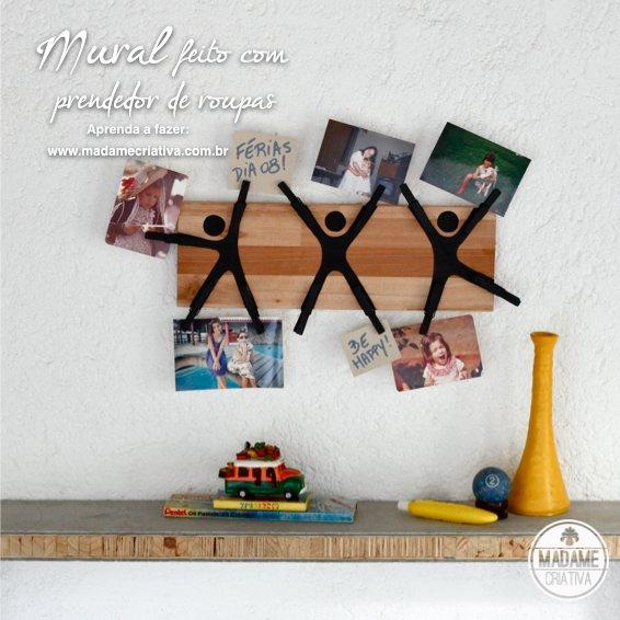 Clothpin Photo Message Holder Wall Decor