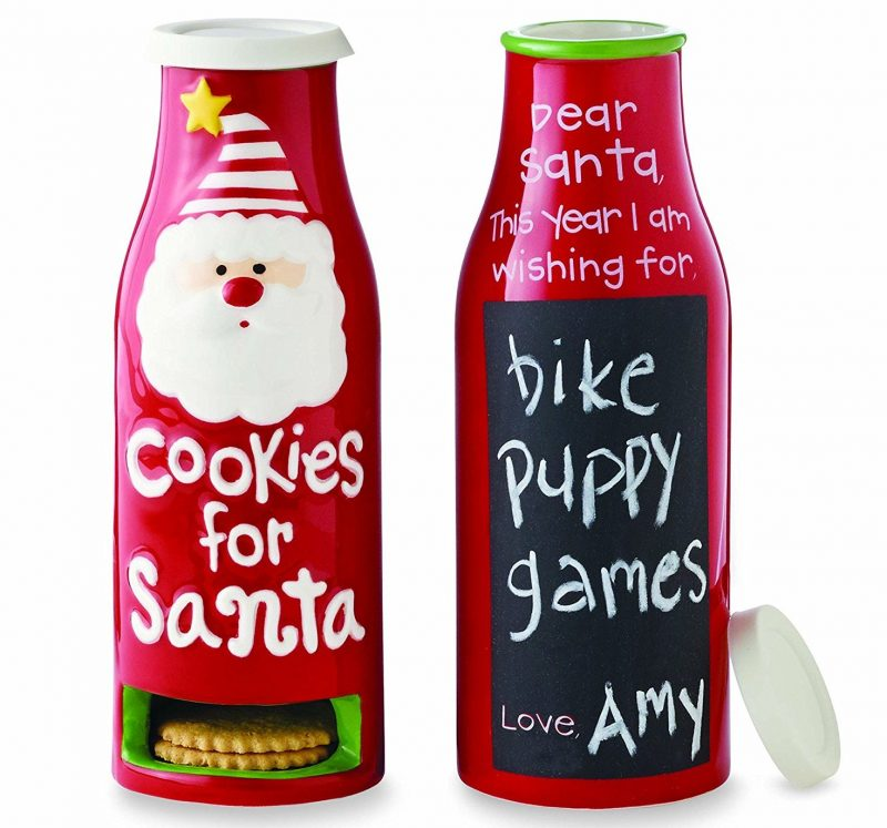 Cookies for Santa Milk Bottle Cookie Jar