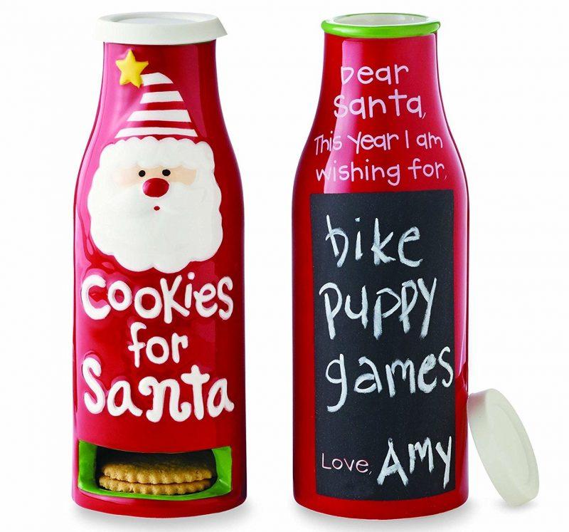 Cookies for Santa Milk Bottle Cookie Jar