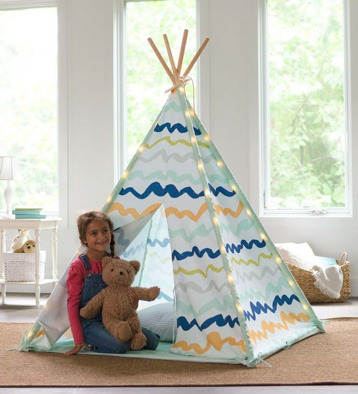 Creative Color Brushed Kids Teepee Tent