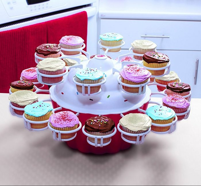 Cupcake Merry-Go-Round Serving Dish