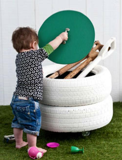 DIY Tyre Storage Bin