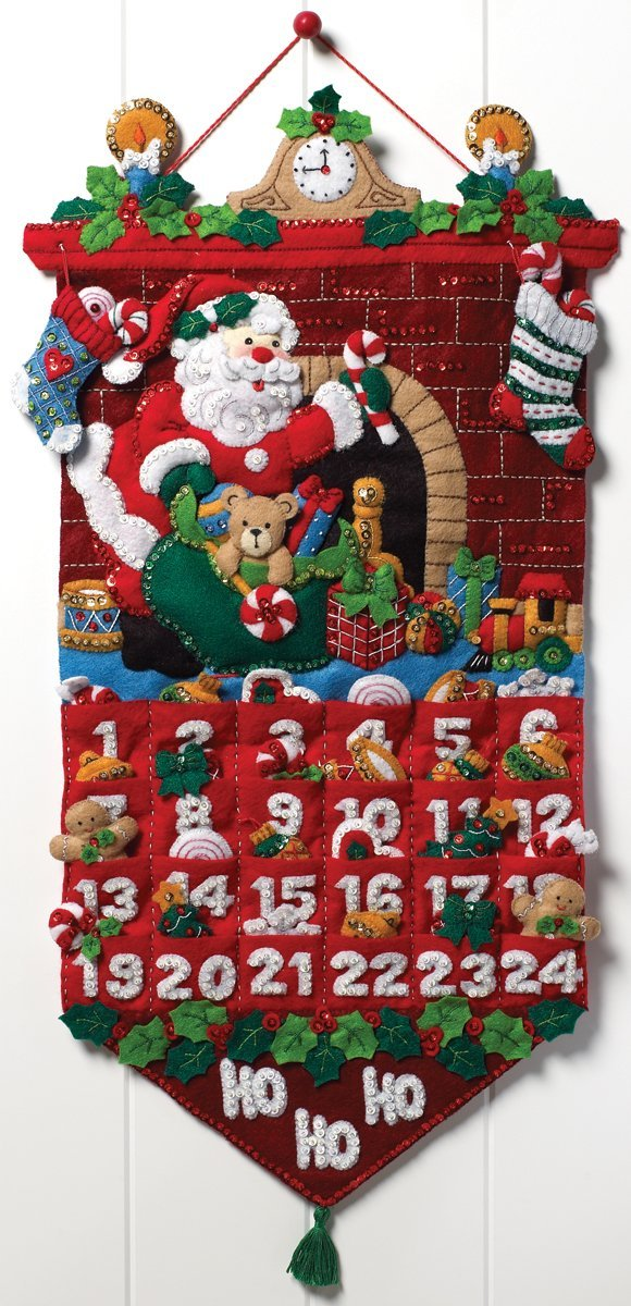 Felt Applique Advent Calendar