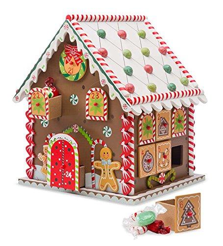 Festive Wooden House Calendar