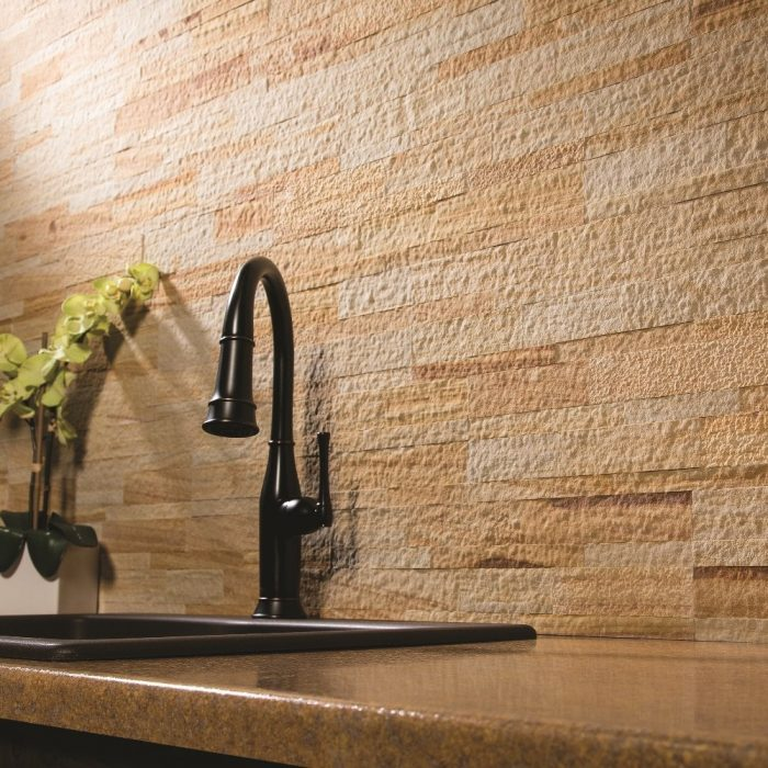 Golden Sandstone Wall Panel