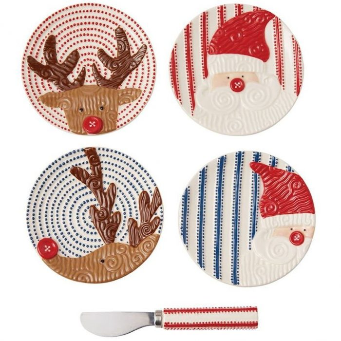 Hand-Painted Tidbit Plates
