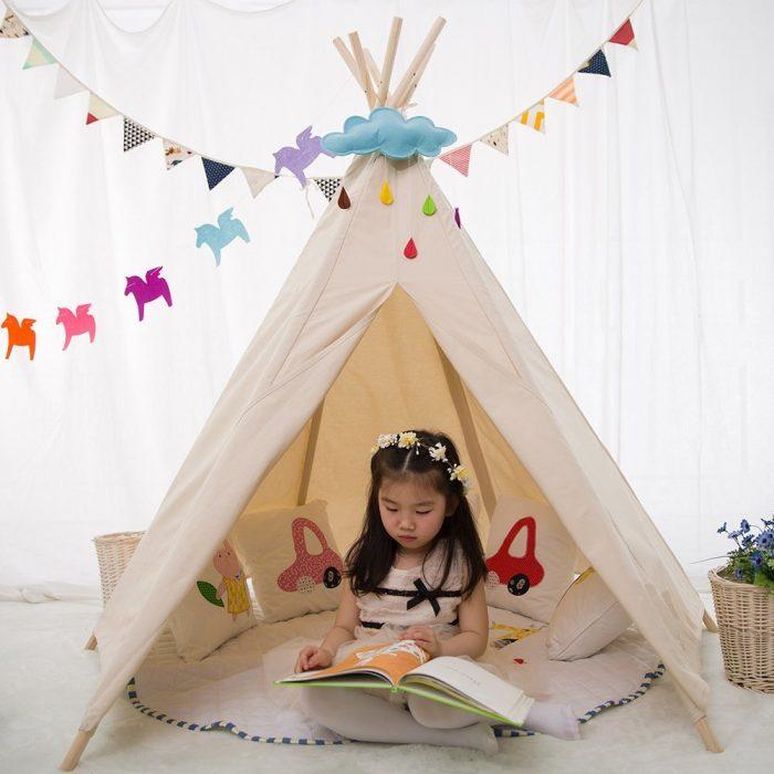 Hexagon Beige Color Kids Tent