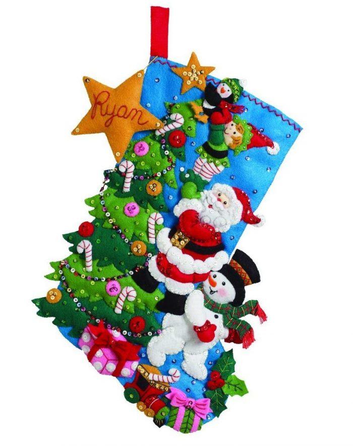 Holiday Decorating Theme Stocking