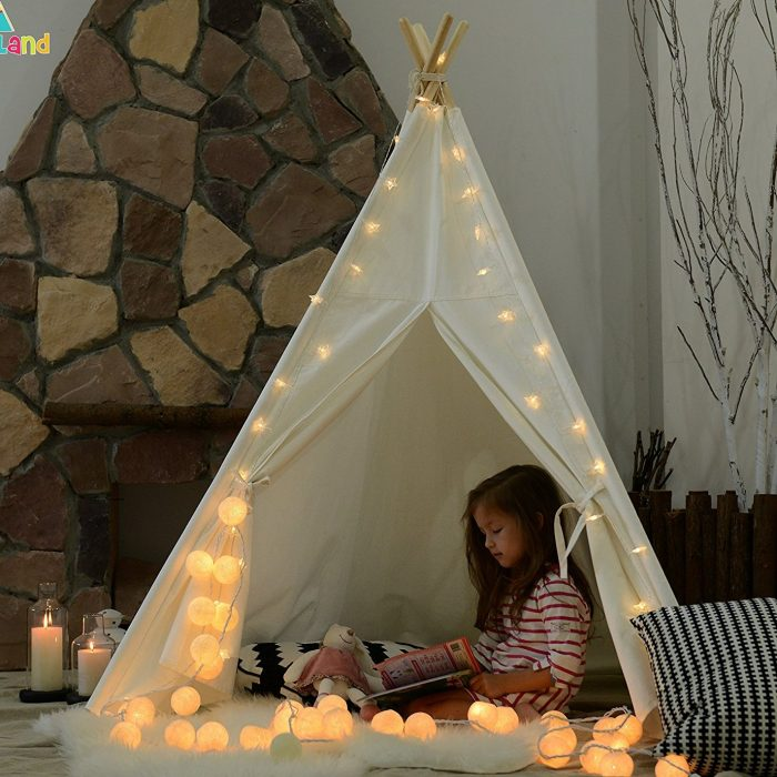 Lightweight White Play Teepee Tent