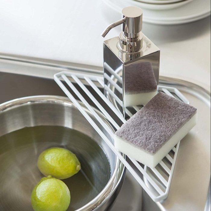 Lightweight  White Sink Drainer