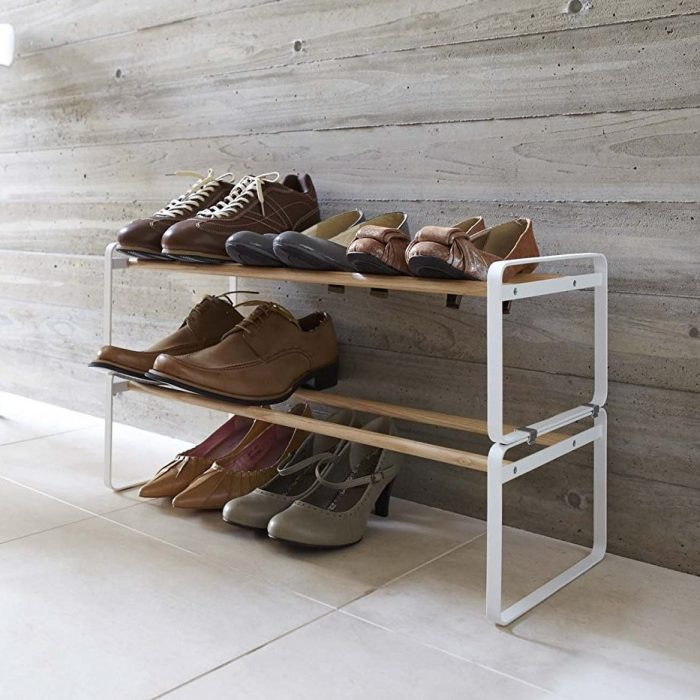 Plain White Shoe Rack