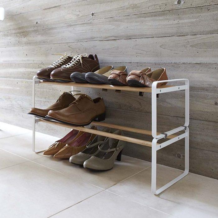 Plain White Shoe Rack
