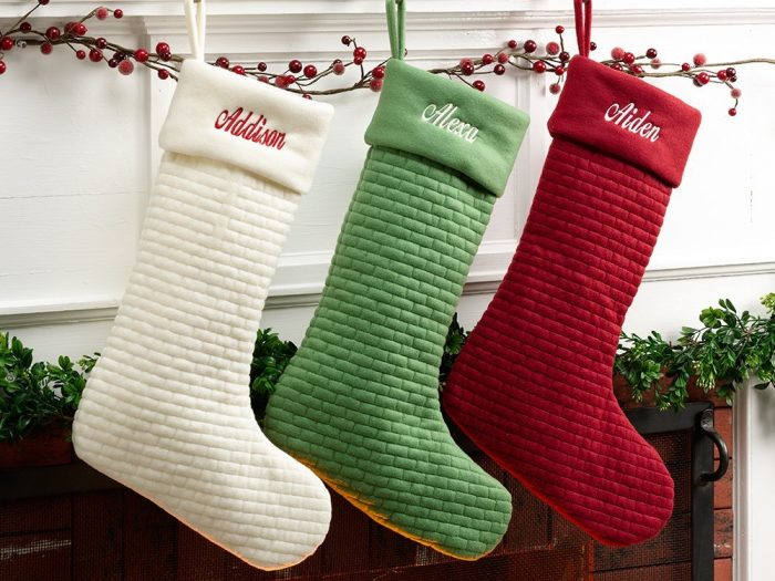 Quilted Designed Christmas Stockings