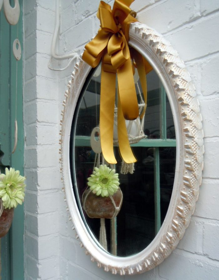 Recycled Tire Mirror Frame