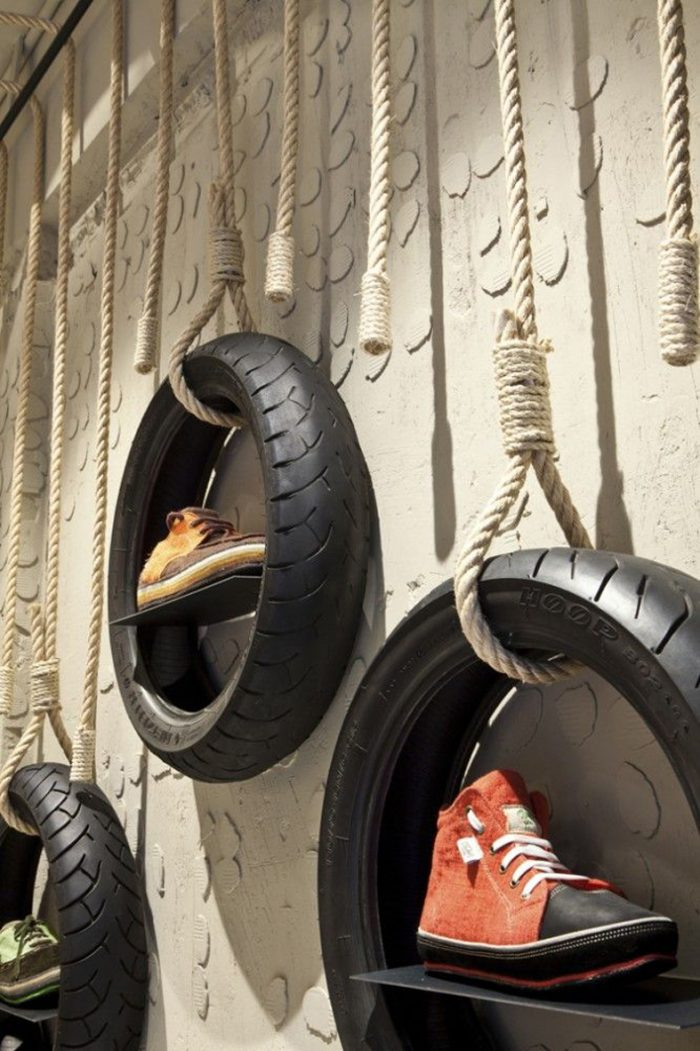 Recycled Tire Store Display