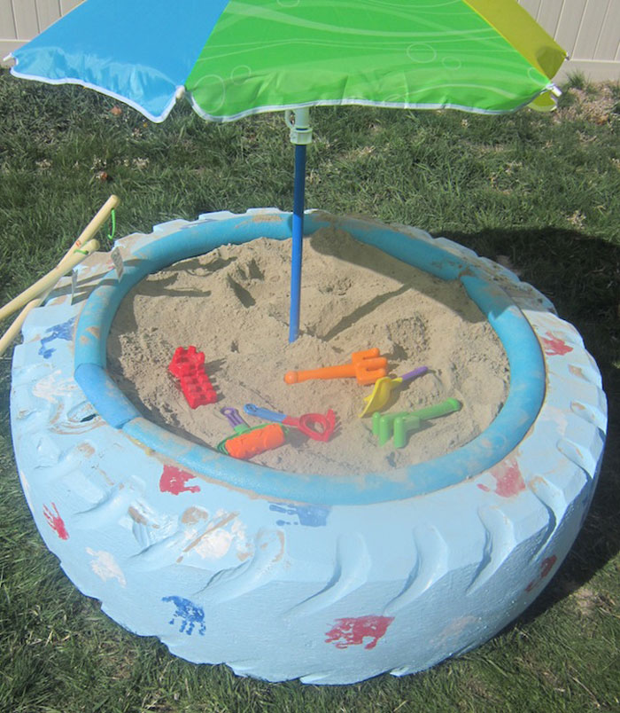 Sandbox With a Tyre