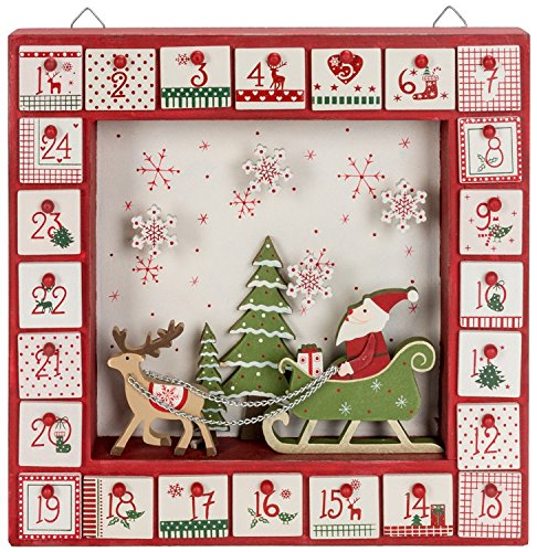 Santa & Sleigh in Shadow Box Calendar