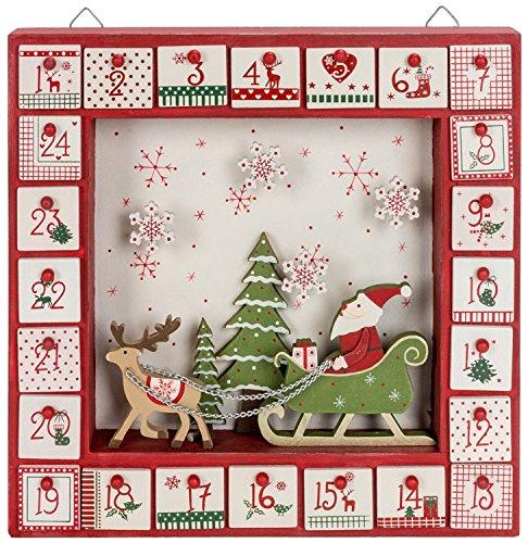 Santa & Sleigh in Shadow Box Calendar