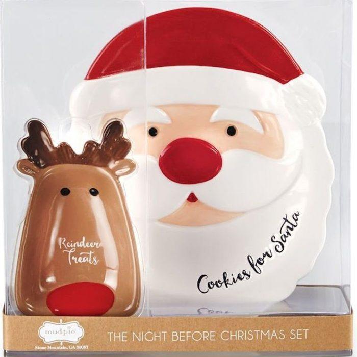 Santa and Reindeer Treats Dish Set