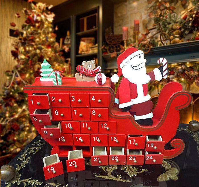 Santa on a Sleigh Advent Calendar