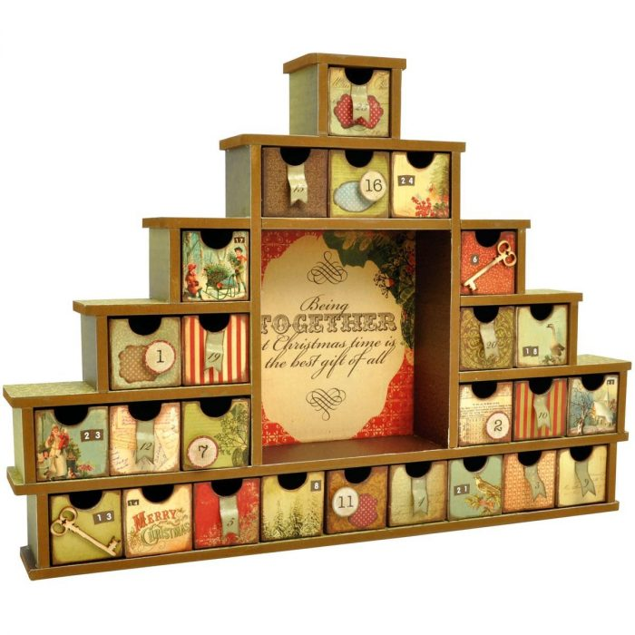 Shadow Box with Drawers Advent Calendar