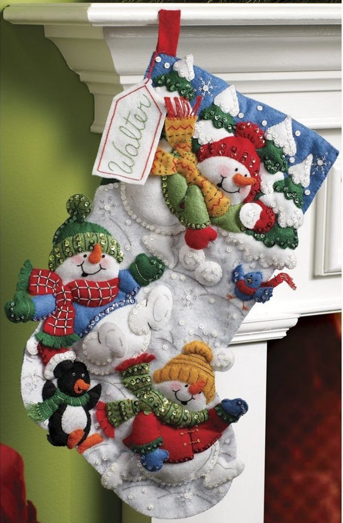 Snow Fun Christmas Stocking