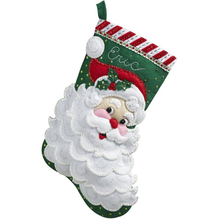 Stitchery Traditional Christmas Stocking