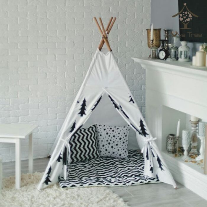 Tree Style Black and White Tent