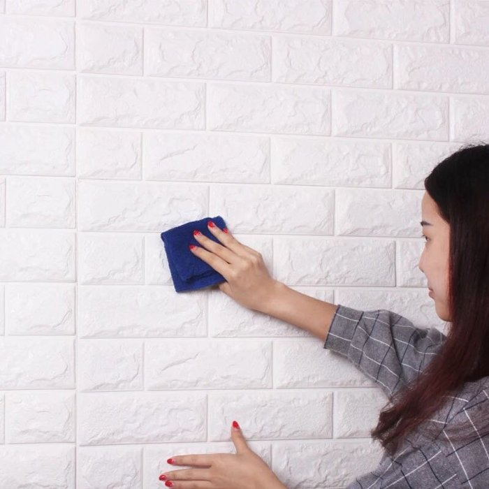 White Brick 3D Wall Panel
