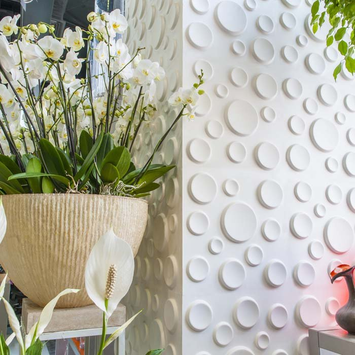 White Craters Design Wall Panel