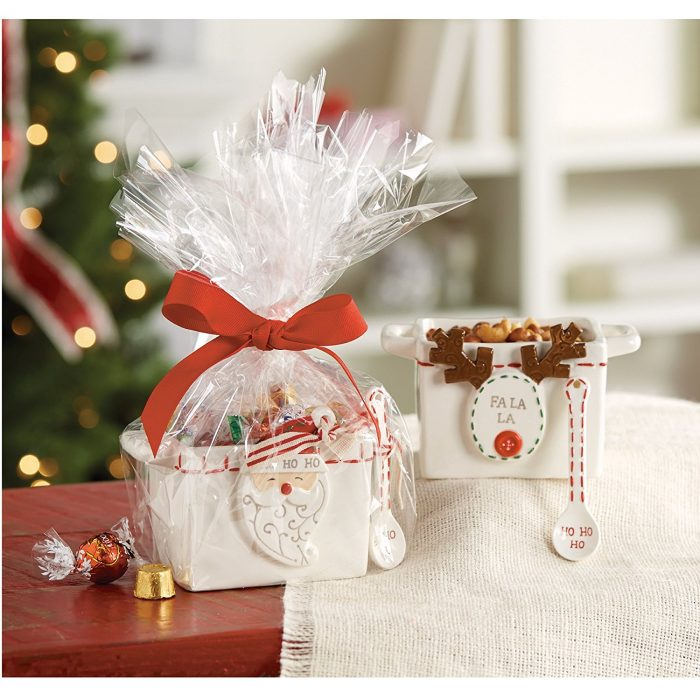 White Reindeer Nut Candy Bowl