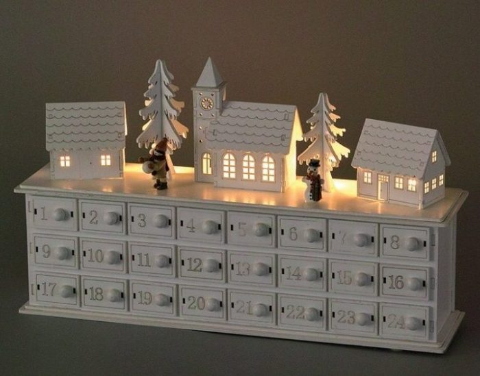 Winter Town Scence Advent Calendar