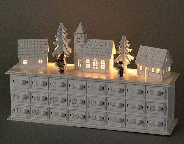 Winter Town Scence Advent Calendar