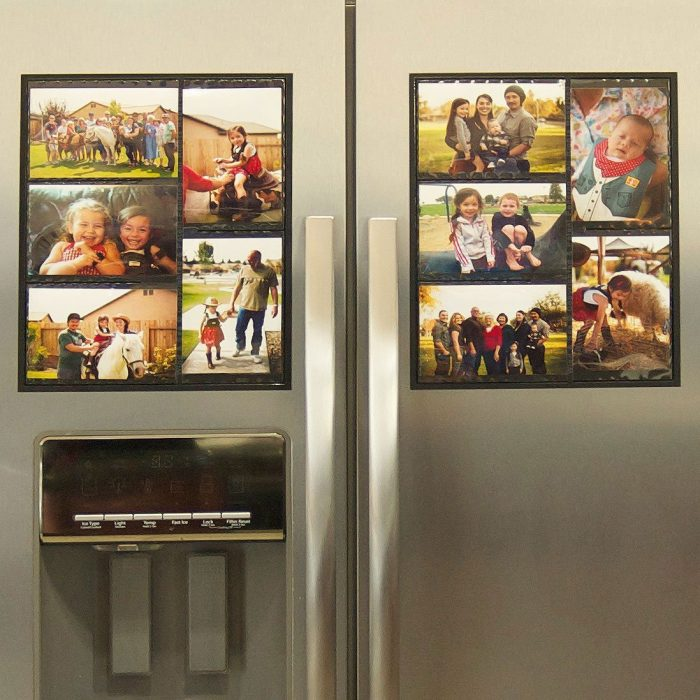 Black Magnetic Picture Collage Frames