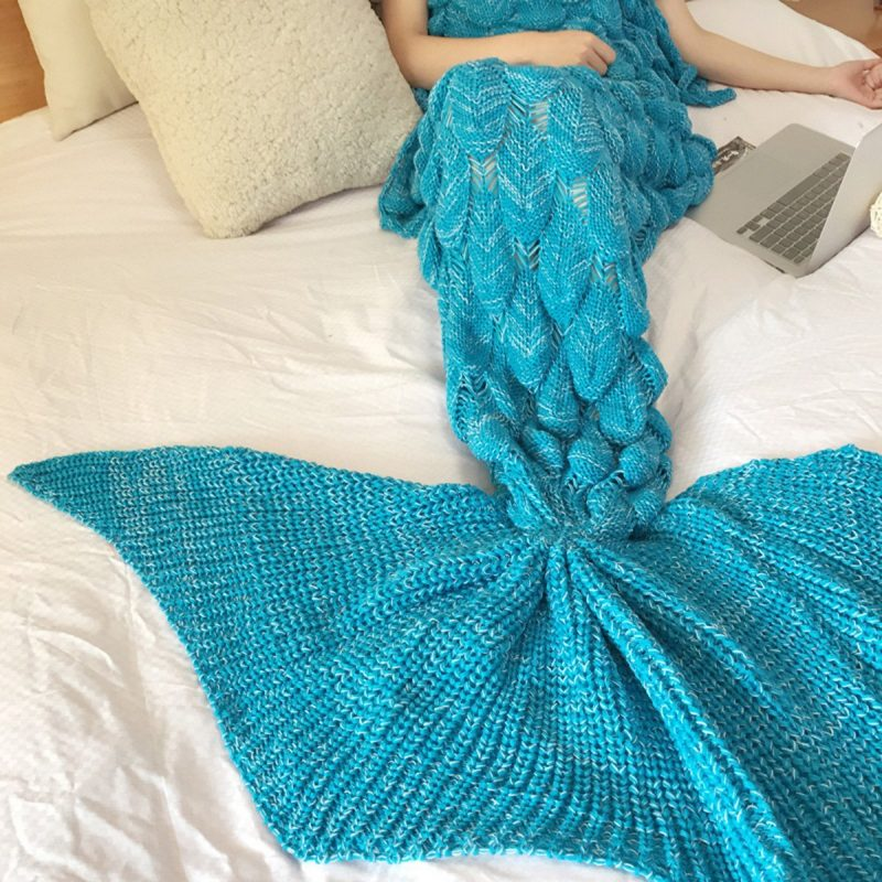 Blue Mermaid Blanket