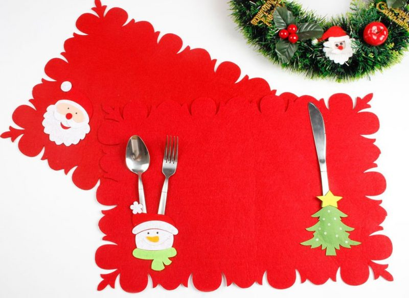 Christmas Placemat with cutlery holder