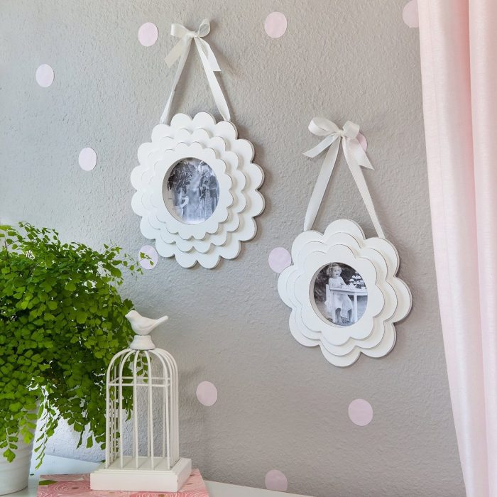 Flower Pedal Wood Hanging Frames