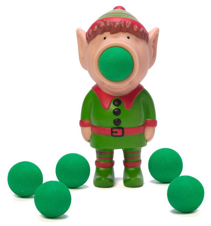Mini Elf Popper Toy With Green Balls